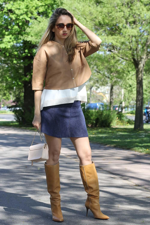 Outfit: provokativ und klassisch mit Minirock