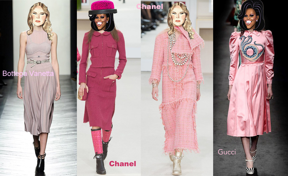 colourclub-chanel-dress-bottega-vanetta-dress-gucci-dress-pink-trend