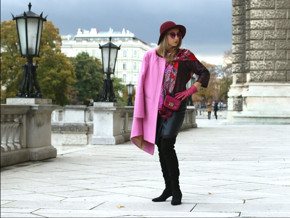 colourclub-outfit-pink-coat-over-the-knee-boots-furla-bag-dior-so-real-sunnglasses