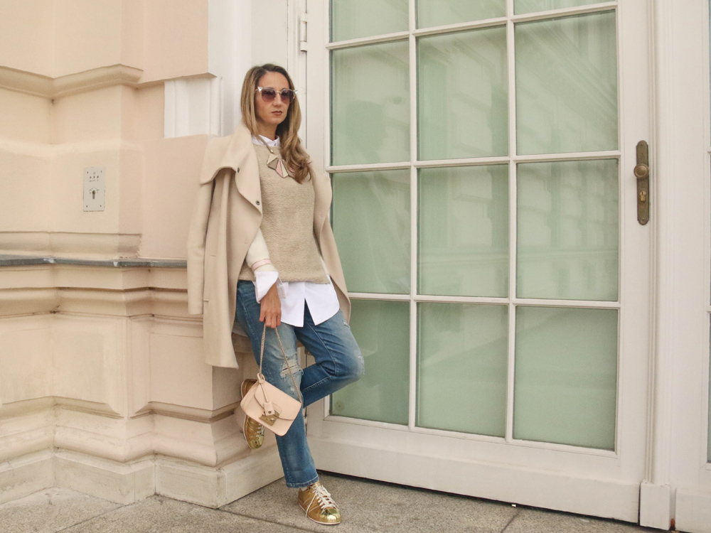 colourclub-denim-look-furla-metropolis-bag-white-coat-armani-necklace-fendi-sunglasses-adidas-originals-sneakers
