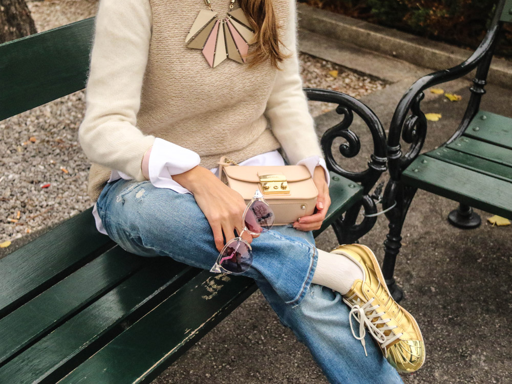 colourclub-denim-outfit-fendi-sunglasses-armani-necklace-zara-knitwear-furla-bag