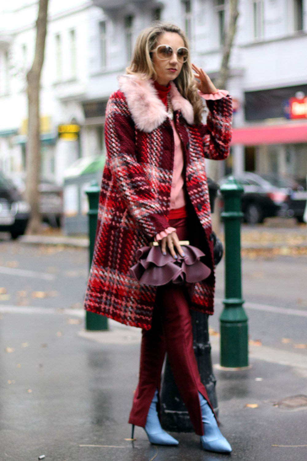 colourclub-fashionblog-wenz-coat-check-pattern-zara-bag-mango-boots