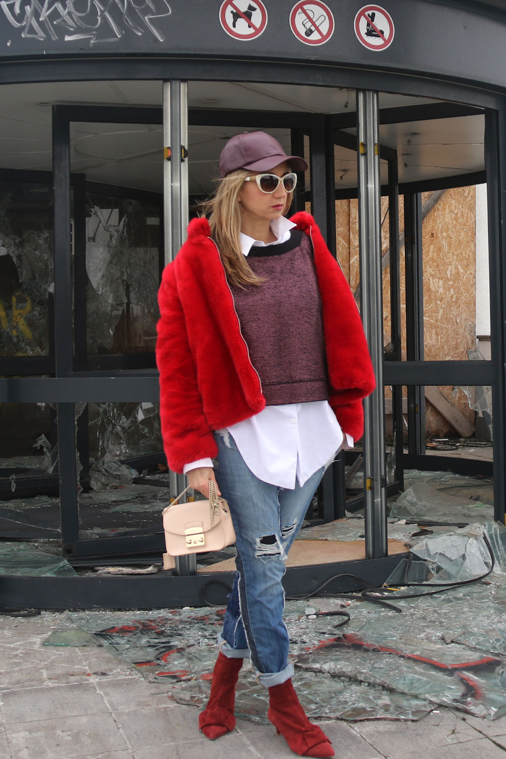 colourclub-fashionblog-fake-fur-mantel-zara-moskot-sunglasses-furla-bag-hm-hat5