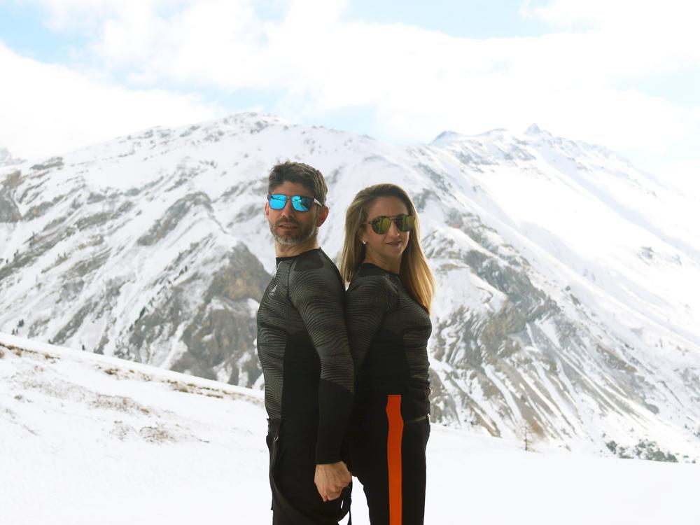 Pärchen, Skifahren, Odlo Funktionsunterwäsche